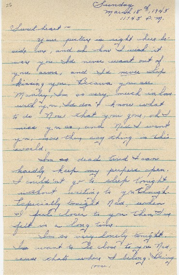 "Go to Letter to Edward ""Ned"" Manley by Jean Worthington, March 18, 1945. item page"