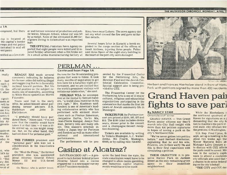 """""""Ticket sales open for Perlman concert"""""""