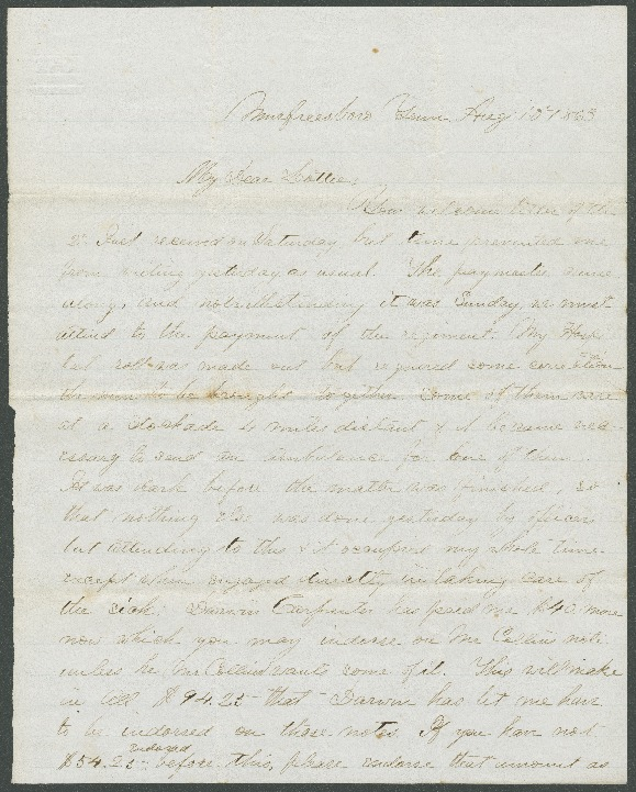 Go to John Bennitt to his wife [Letter 087] item page