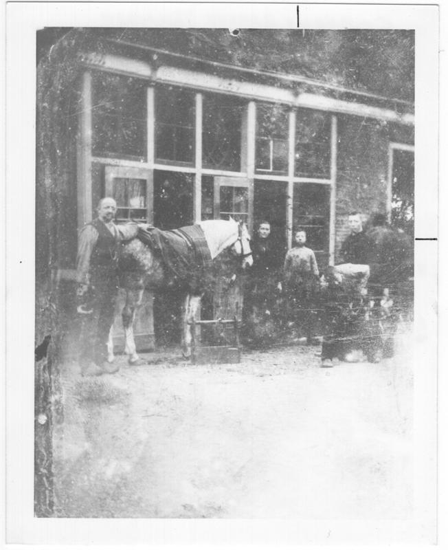 Harms blacksmith in Alkmaar, Netherlands, circa 1880s.