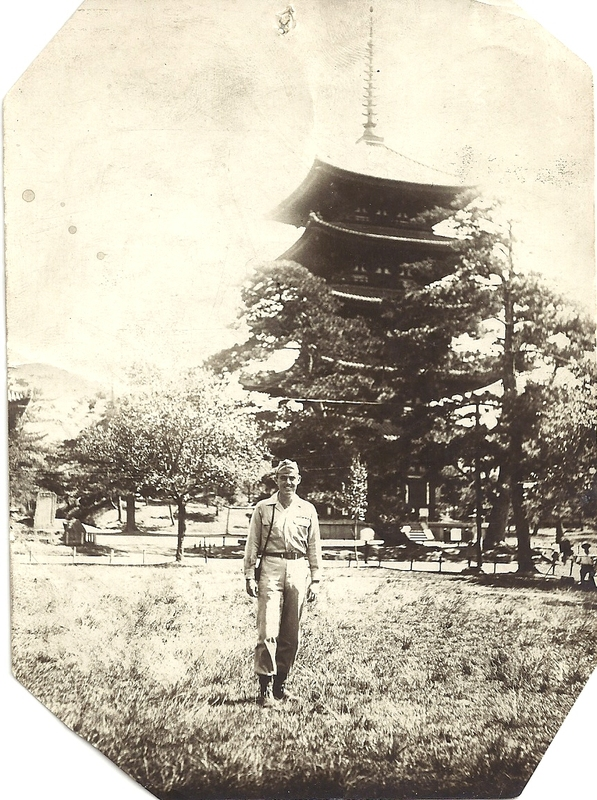 "Go to Edward ""Ned"" Manley in uniform in Japan, circa 1945 item page"