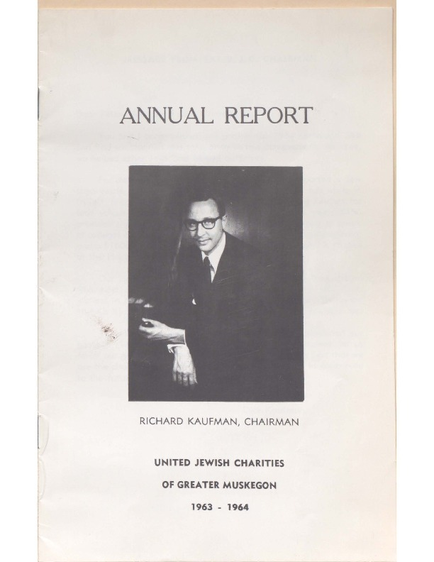 Go to B'nai Israel Temple Annual Report, 1963 item page