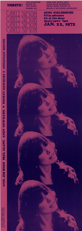 Go to Carly Simon, January 22, 1972 item page