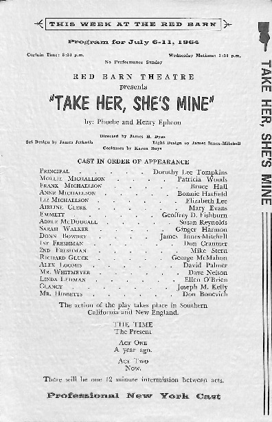 Go to Take Her, She's Mine playbill item page