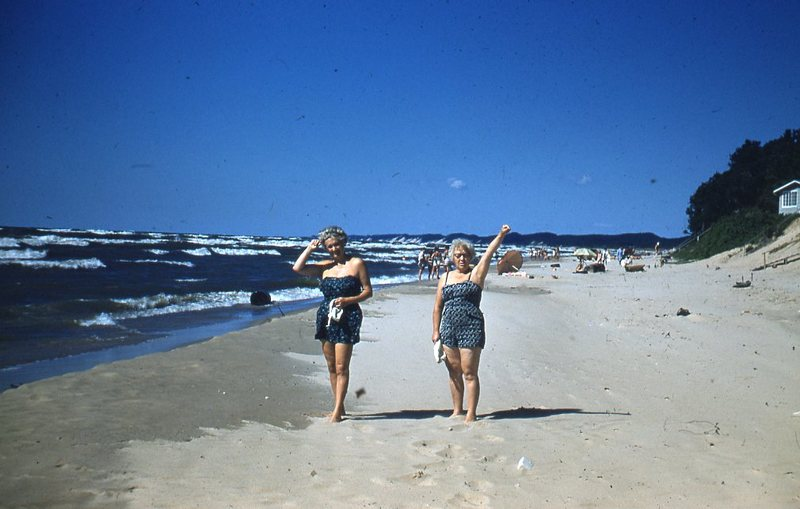 Go to Two elderly women on the beach item page