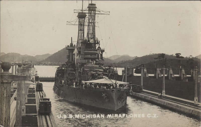 Go to U.S.S. Michigan at Miraflores, C.Z. item page