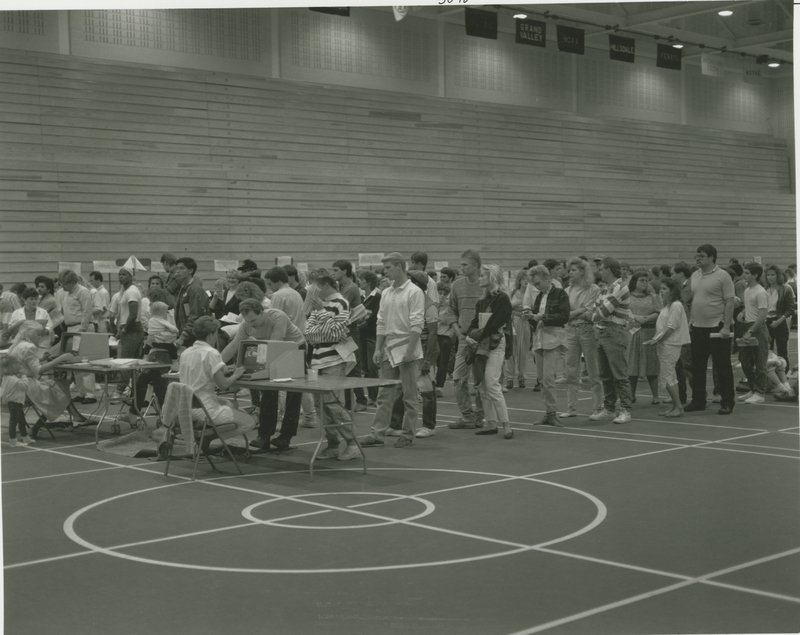 Go to Students standing in line for Registration item page