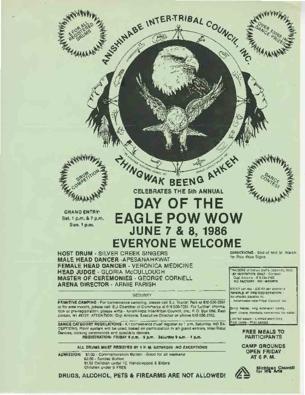 Go to Day of the Eagle Pow Wow, June 1986 item page