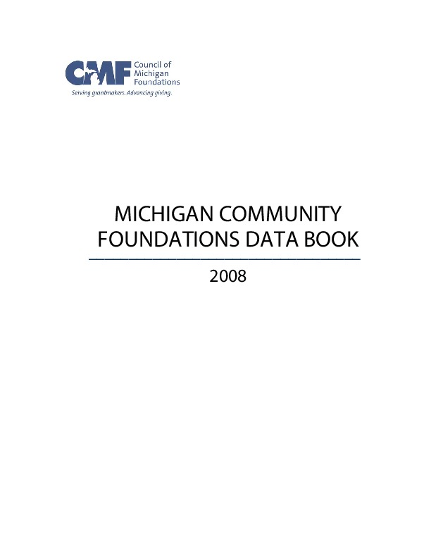 Go to Council of Michigan Foundations 2008 Data Book item page
