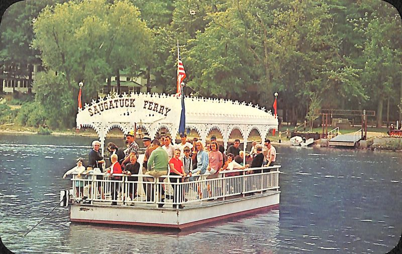 Go to Saugatuck Ferry, Saugatuck, Mich. postcard item page