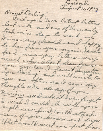 Go to Letter from Joe Olexa to Agnes Van Der Weide, August 11, 1944 item page