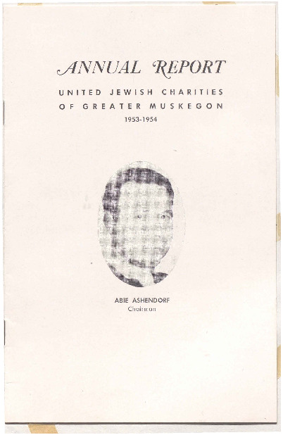 Go to Annual Report: United Jewish Charities of Greater Muskegon, 1953-1954 item page