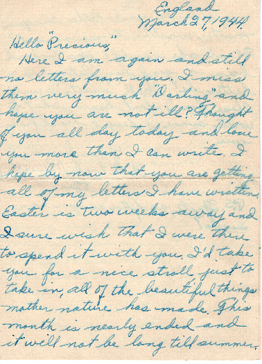 Go to Letter from Joe Olexa to Agnes Van Der Weide, March 27, 1944 item page