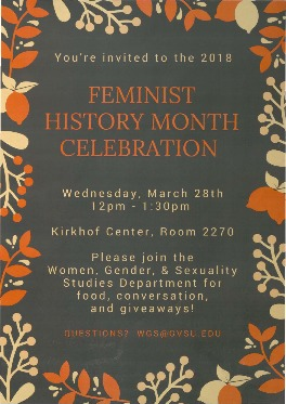 Go to 2018 Feminist History Month Celebration item page