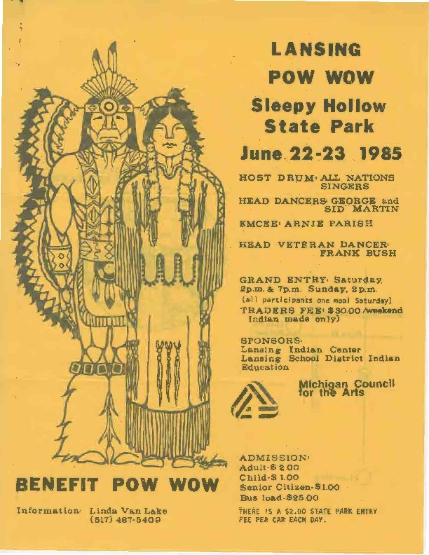 Go to Lansing Pow Wow, June 1985 item page