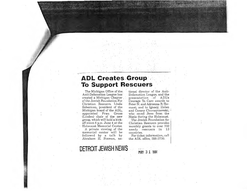 Go to ADL Creates Group to Support Rescuers item page