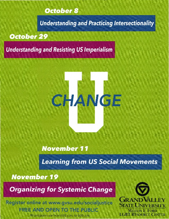 Go to Change U: Social Justice Training Poster item page