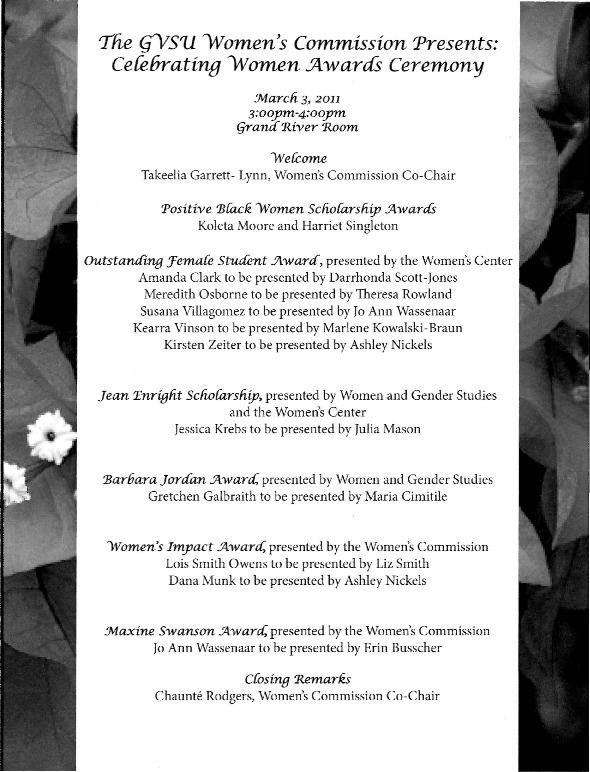 Go to Celebrating Women Awards Ceremony item page