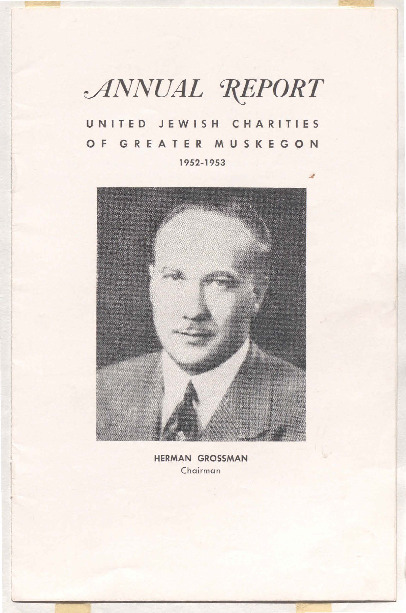 Go to Annual Report: United Jewish Charities of Greater Muskegon, 1952-1953 item page