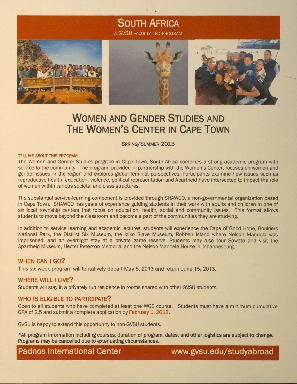 Go to Women and Gender Studies and the Women's Center in Cape Town item page