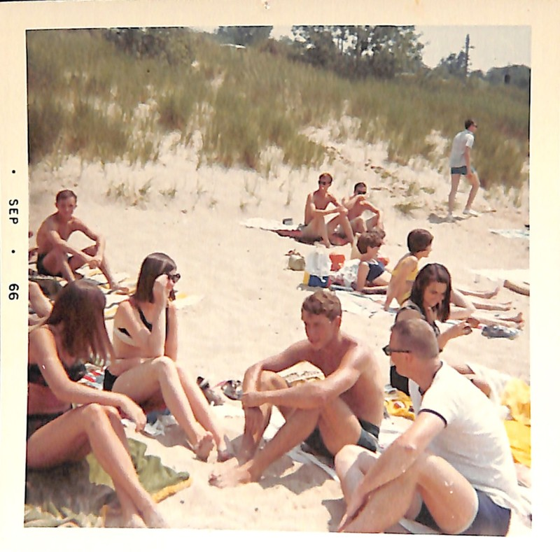 Go to Young people sunbathing among the dunes item page