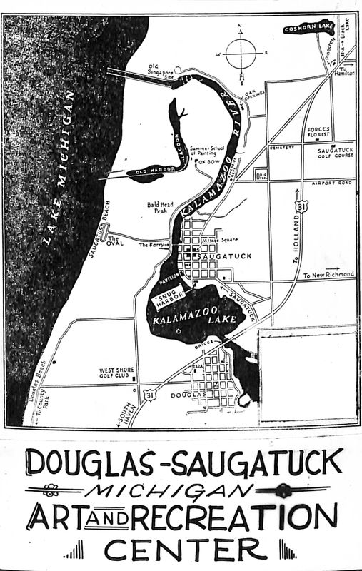 Go to Douglas - Saugatuck Art and Recreation Center map postcard item page
