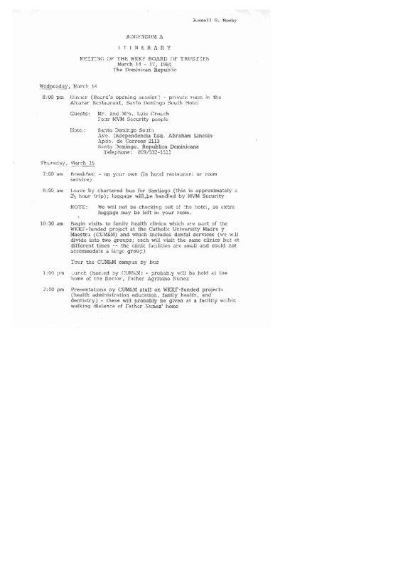 Go to Russell Mawby field report, Dominican Republic, March 14, 1984 item page