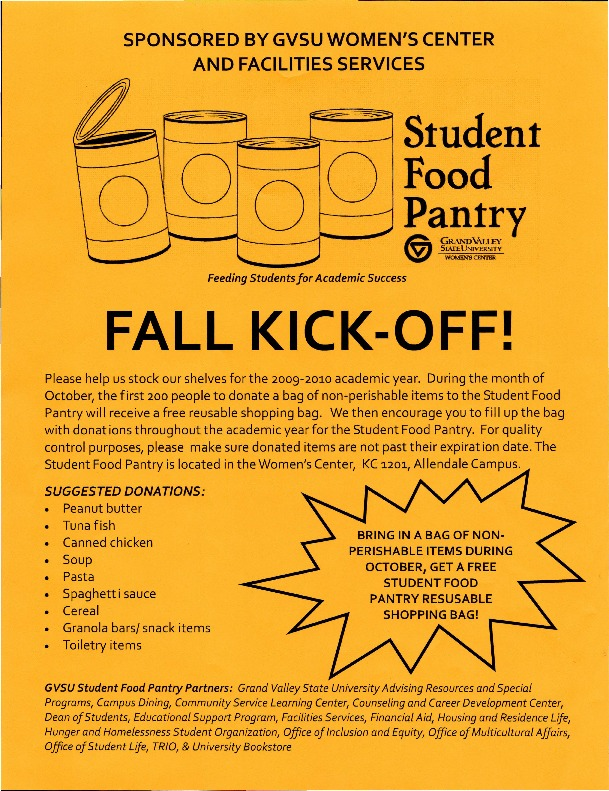 Go to Student Food Pantry Fall Kick-Off item page