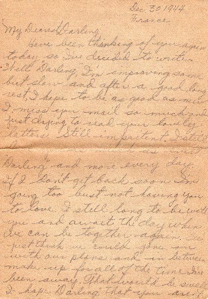 Go to Letter from Joe Olexa to Agnes Van Der Weide, December 30, 1944 item page