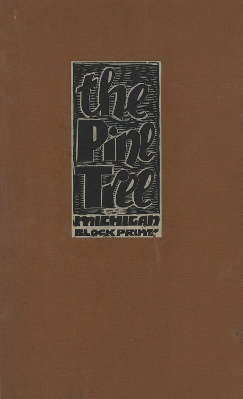 Go to Pine Tree in Michigan cover with the Pine Tree Michigan block prints item page