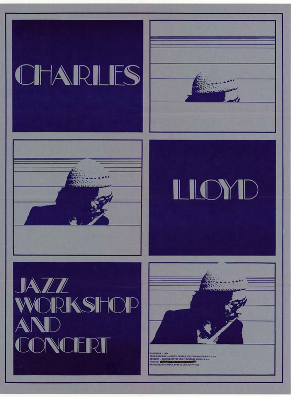 Go to Charles Lloyd jazz workshop and concert, November 1, 1974 item page