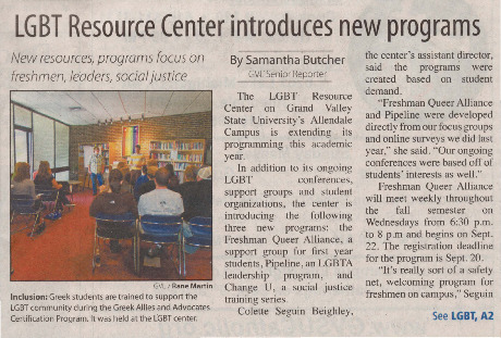 Go to LGBT Resource Center introduces new programs item page