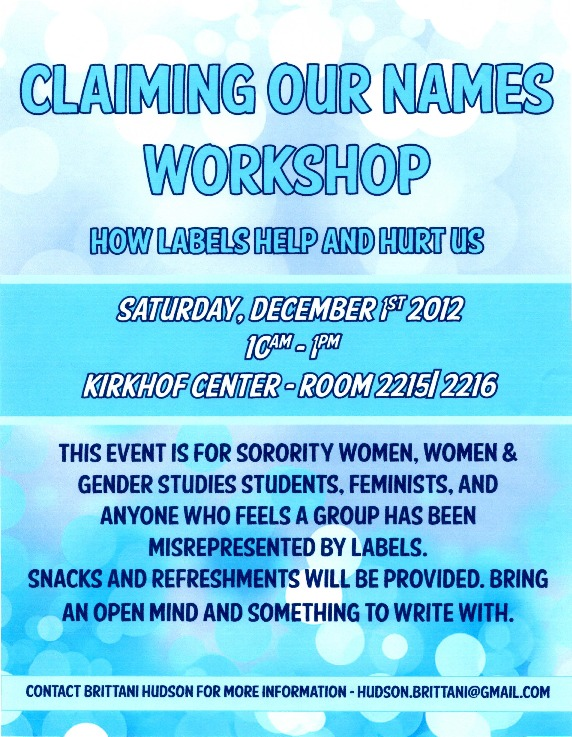 Go to Claiming Our Names Workshop: How Labels Help and Hurt Us item page
