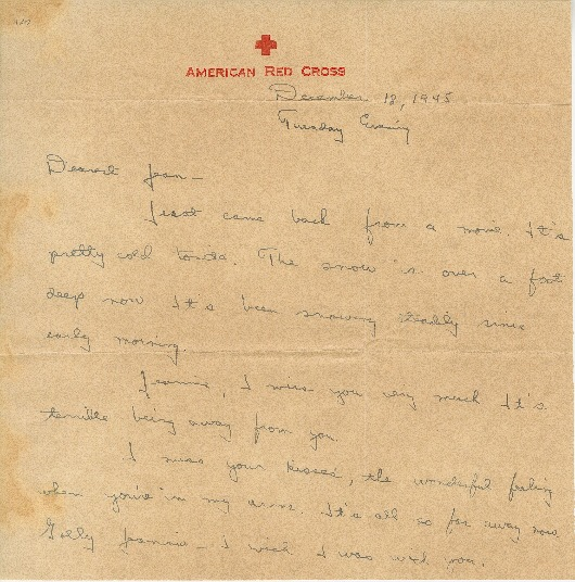 "Go to Letter to Jean Worthington by Edward ""Ned"" Manley, December 18, 1945. item page"