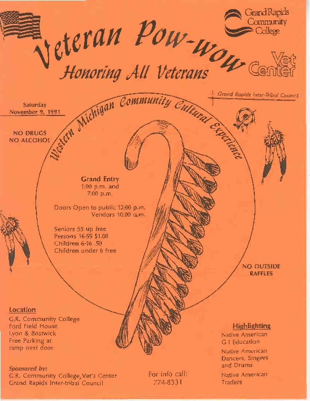 Go to Veterans Pow Wow, November 1991 item page