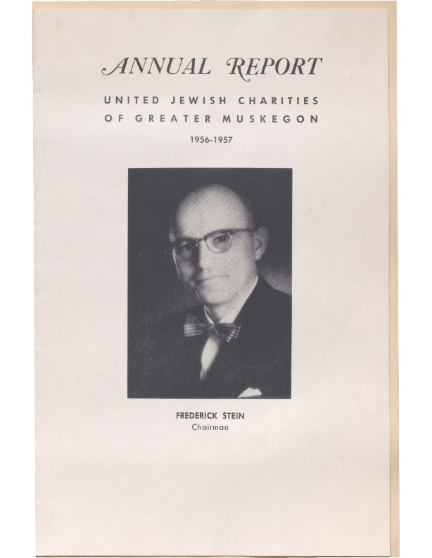 Go to B'nai Israel Temple Annual Report, 1956 item page