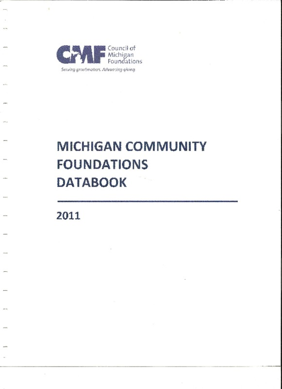 Go to Council of Michigan Foundations 2011 Databook item page