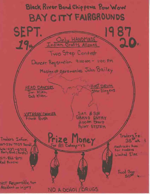 Go to Black River Band Chippewa Pow Wow, September 1987 item page