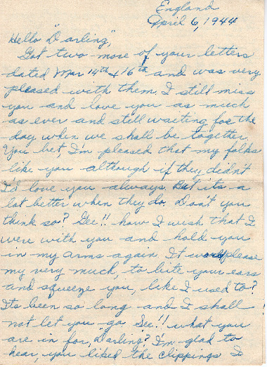 Go to Letter from Joe Olexa to Agnes Van Der Weide, April 6, 1944 item page