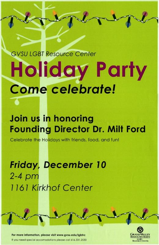 GVSU LGBT Resource Center Holiday Party