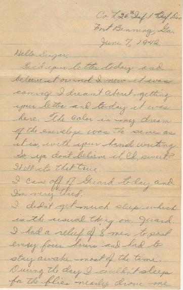 Go to Letter from Joe Olexa to Agnes Van Der Weide, June 7, 1942 item page