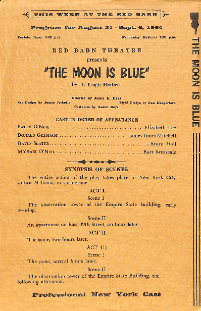Go to The Moon is Blue playbill item page