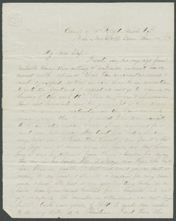 Go to John Bennitt to his wife [Letter 073] item page