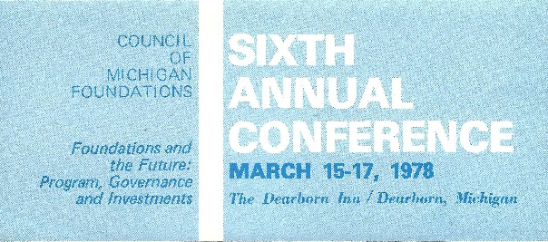 Go to Council of Michigan Foundations 1978 annual conference preliminary program item page