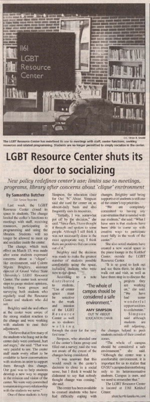 Go to LGBT Resource Center shuts its door to socializing item page