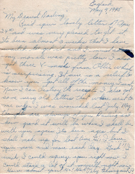 Go to Letter from Joe Olexa to Agnes Van Der Weide, May 4, 1945 item page