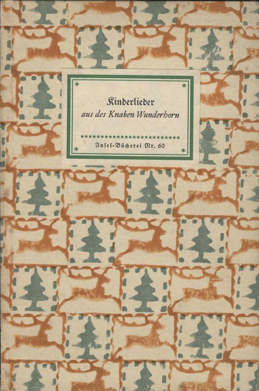 Go to Kinderlieder aus des Knaben Wunderhorn item page