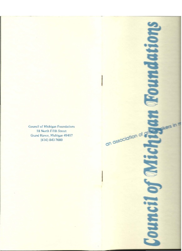 Go to Council of Michigan Foundations Annual Report 1976-1977 item page