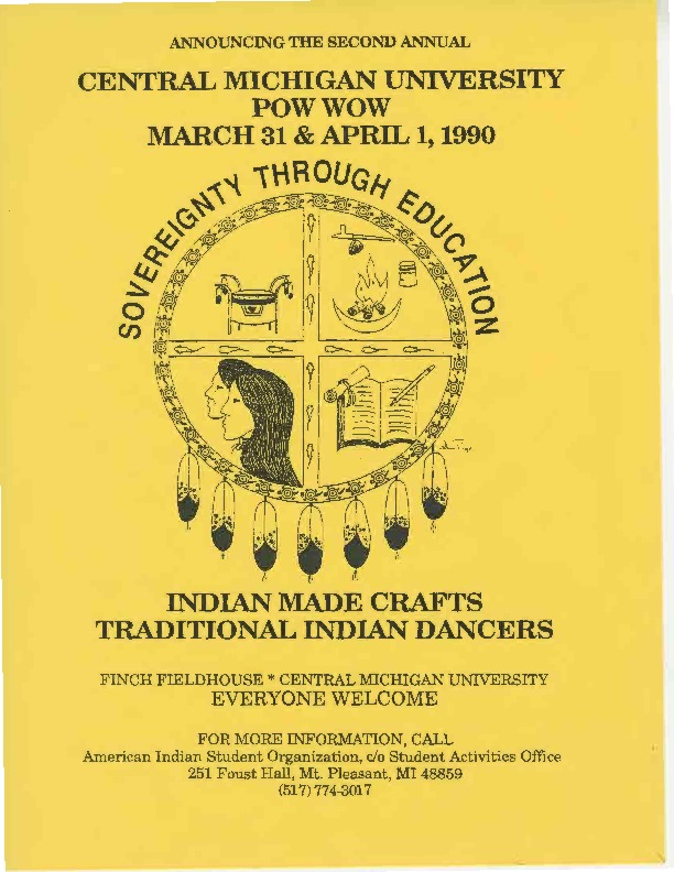 Go to Annual Central Michigan University Saginaw and Chippewa Powwow, March 1990 item page
