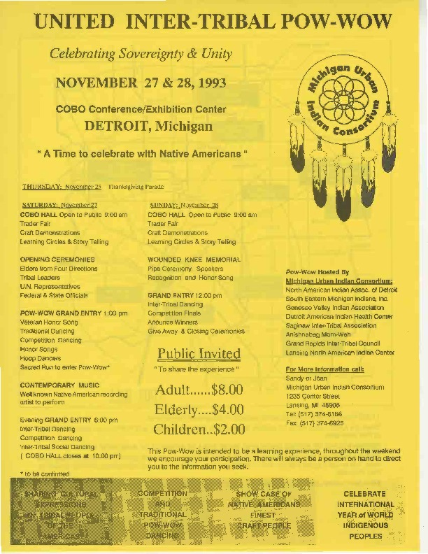 Go to United Inter-Tribal Pow-Wow, November 1993 item page